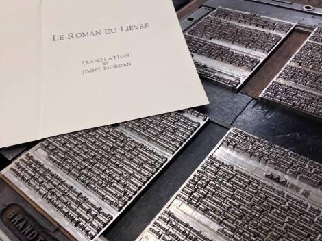 Jimmy Riordan will discuss his amazing letterpress translation project!